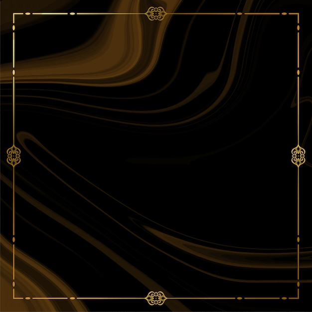 Golden frame with smoke Free Vector