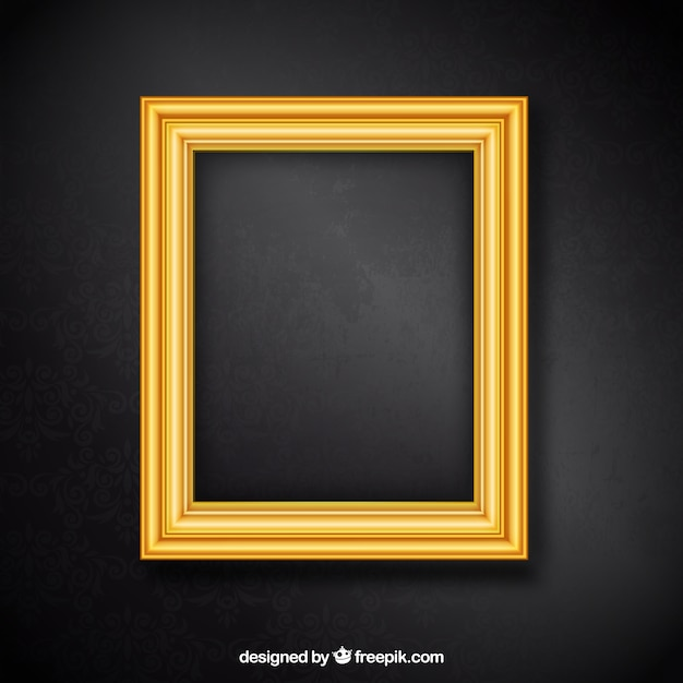 Golden frame Free Vector