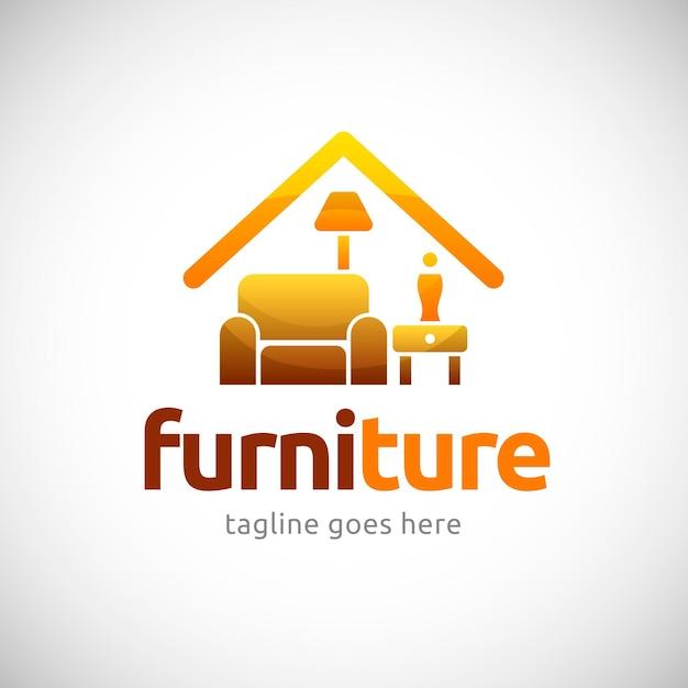 Free Vector   Golden furniture logo