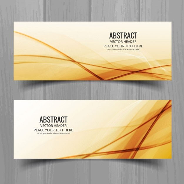 Golden geometric banners set Free Vector