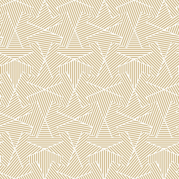 Golden geometric seamless line pattern Premium Vector