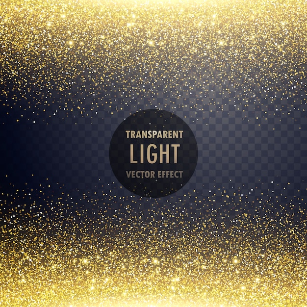 Golden glitter background with badge Free Vector