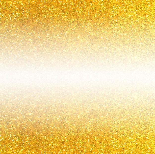 Golden glitter background with space in middle