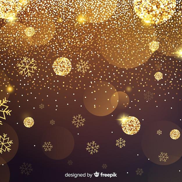 Golden glitter background Free Vector