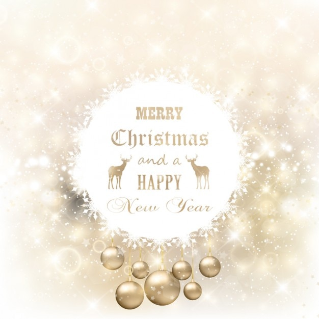Glitter Christmas Cards.Golden And Glitter Christmas Card Vector Free Download