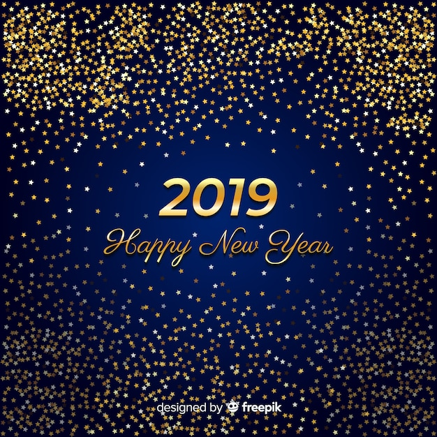 golden glitter new year background free vector