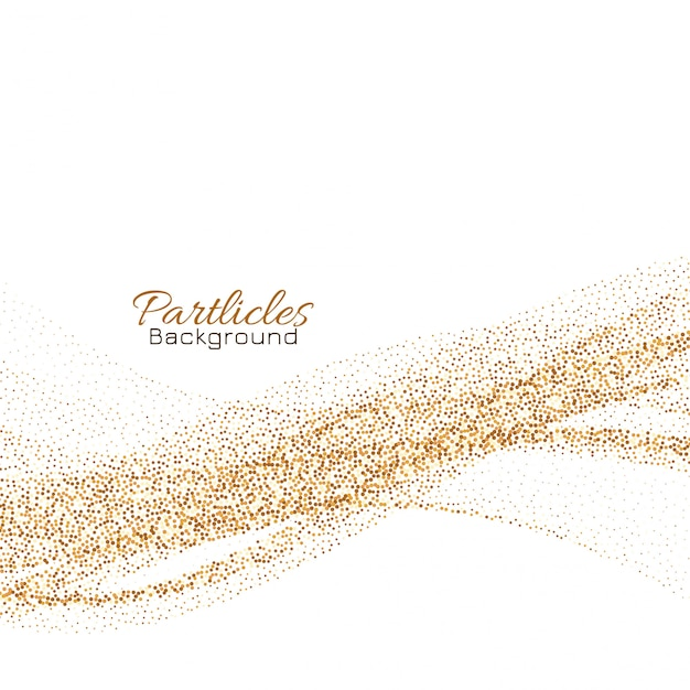 Sfondo di particelle d'oro glitter che scorre Vettore gratuito
