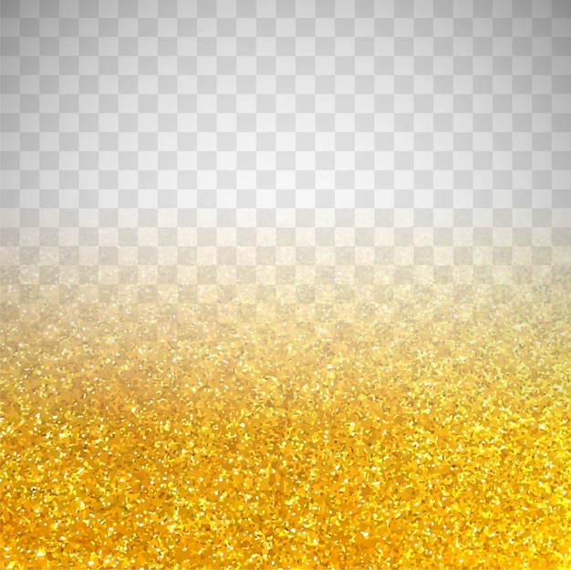 Golden glitter on transparent background Free Vector