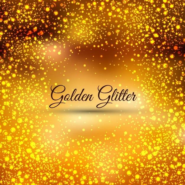 Golden glitters background Vector