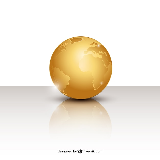 Golden globe Free Vector