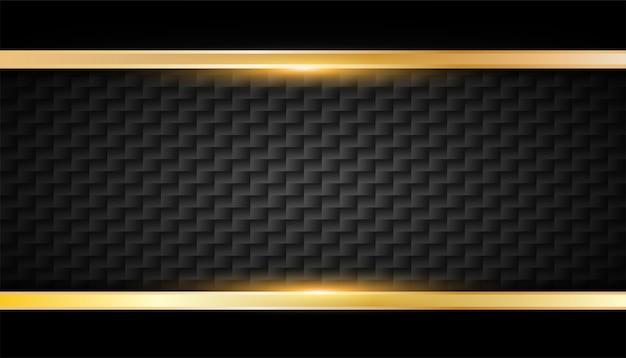 Golden glowing frame Premium Vector