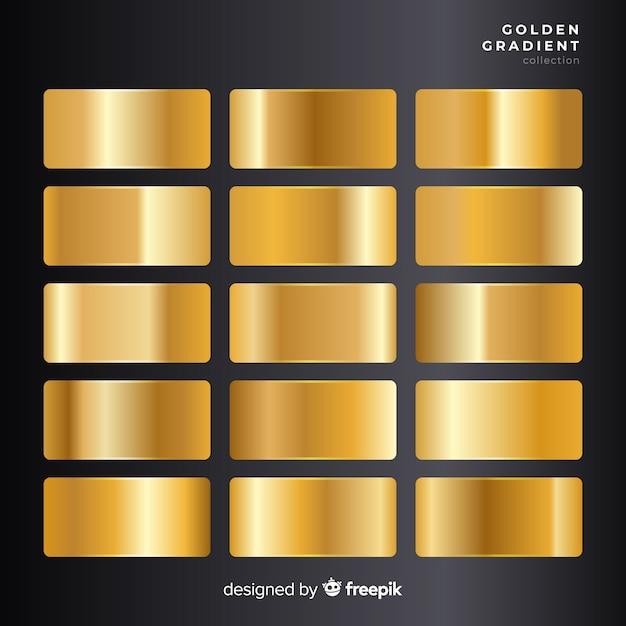 Golden Gradient Collection Vector