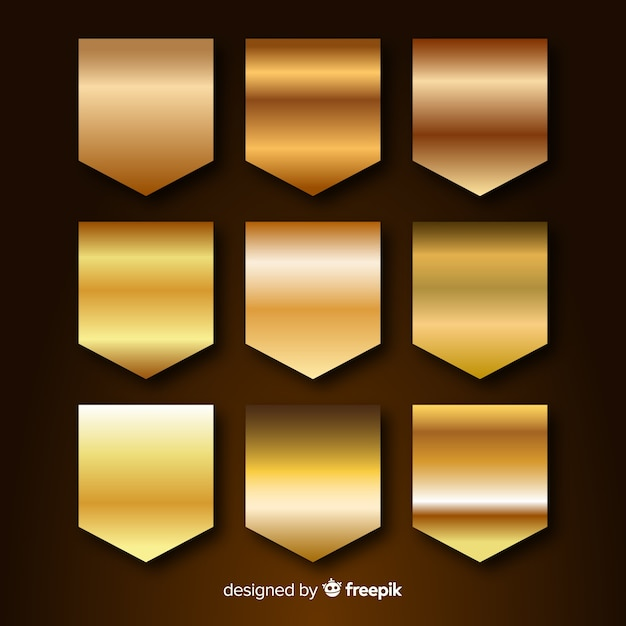 Golden gradient collection Free Vector