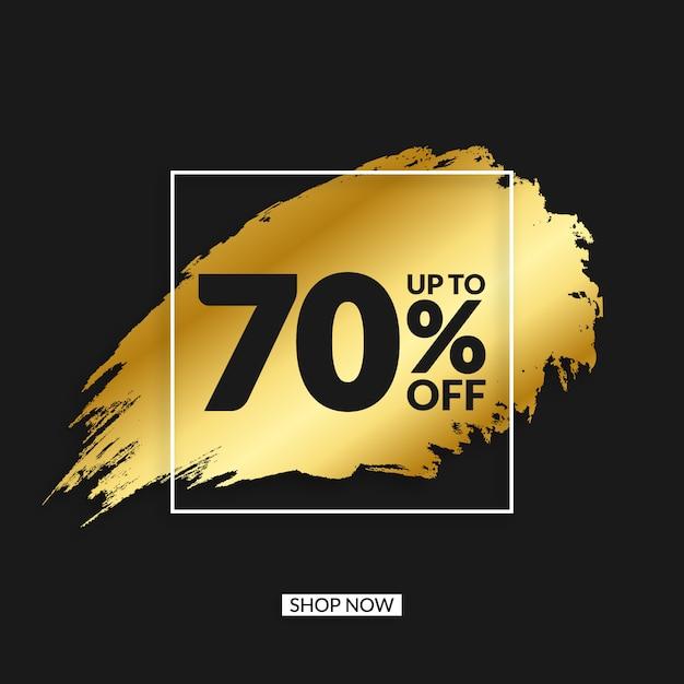 Golden grunge sale banner Premium Vector