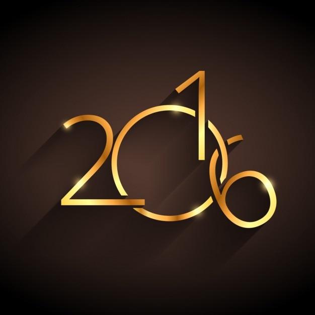 Golden happy new year 2016