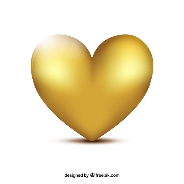 Golden heart background Free Vector