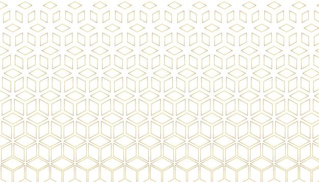 Золотой шестиугольный стиль Бесплатные векторы