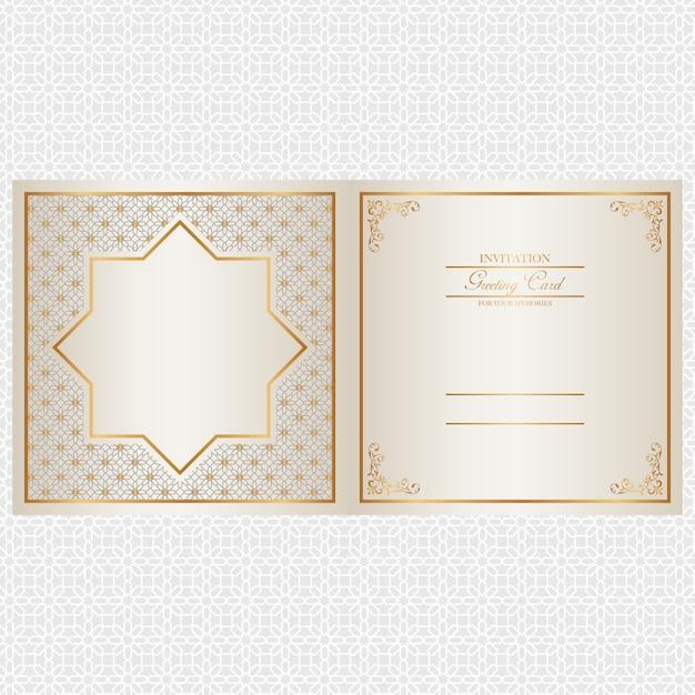 Golden invitation card design Vector – Invitation Card Design Free
