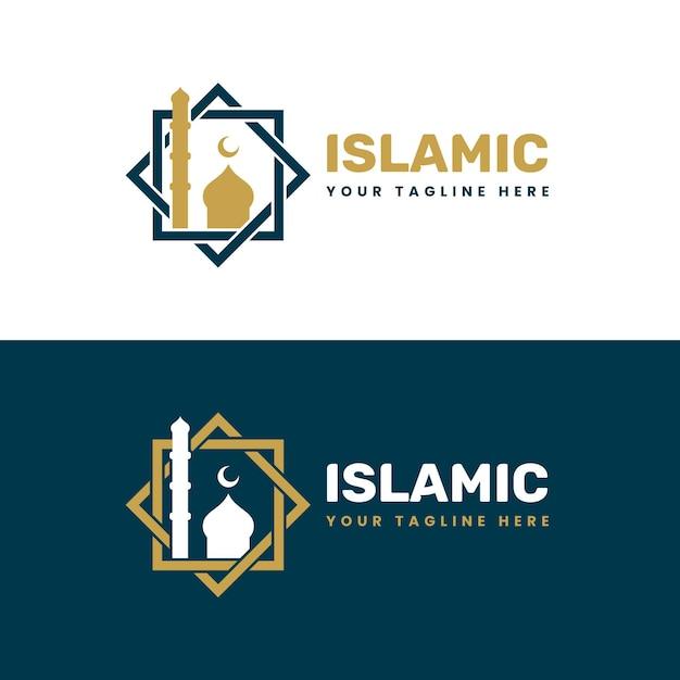 2色の黄金のイスラムロゴ 無料ベクター