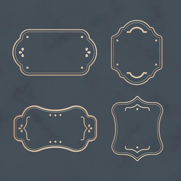 Golden labels set Free Vector