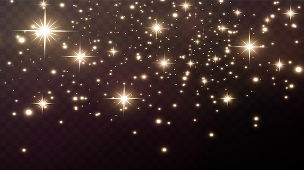 Golden lights. christmas holiday elements. Premium Vector