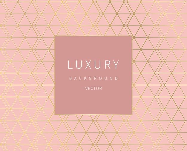 Golden lines. geometric background. luxury style. Premium Vector