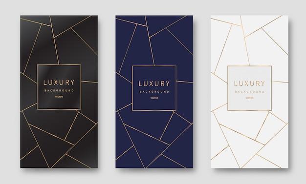 Golden lines pattern background. luxury style. Premium Vector