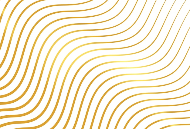 Golden lines pattern background Free Vector