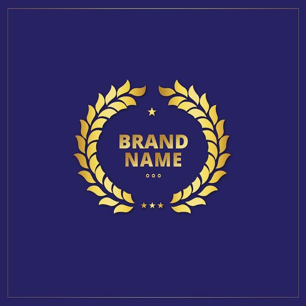 Golden logo template design Free Vector