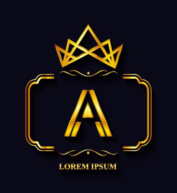 Golden logo template Free Vector