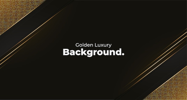 Golden luxury background template with geometric shapes Free Vector