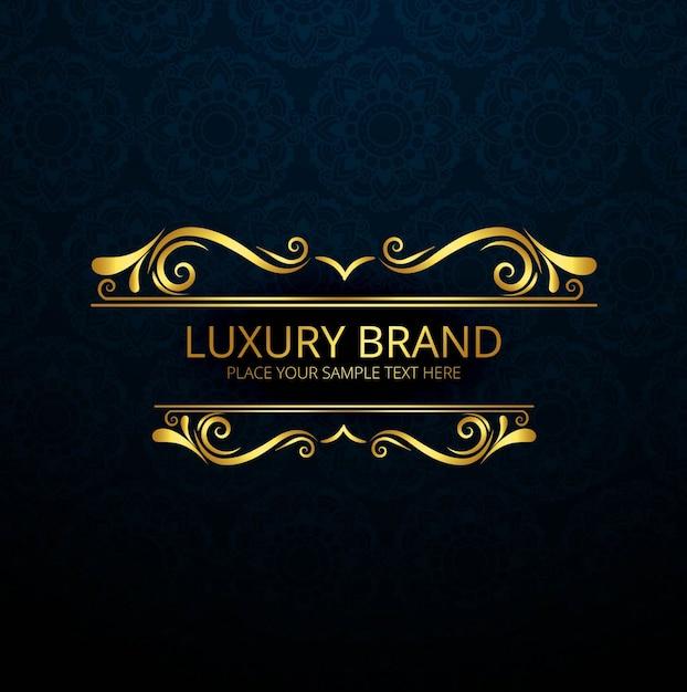 Golden luxury brand design Vector Free Download