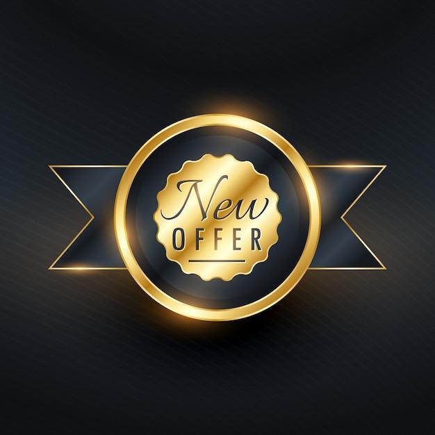 Golden luxury label Free Vector