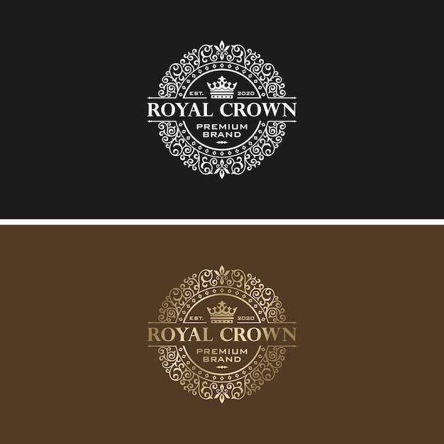 Golden luxury logo design vector template Premium Vector