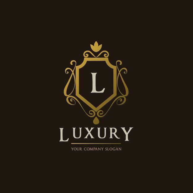 Golden luxury logo design Vector | Free Download