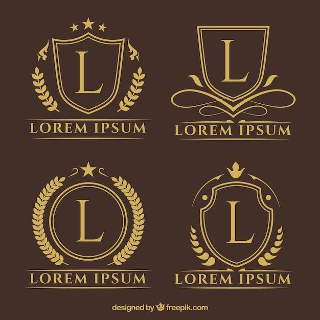 Golden Luxury Logotype Template Vector