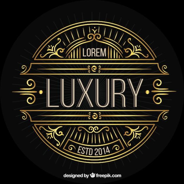Golden luxury logotype template Free Vector