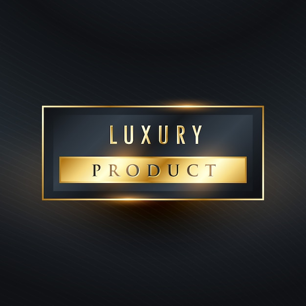 Golden luxury product label Free Vector