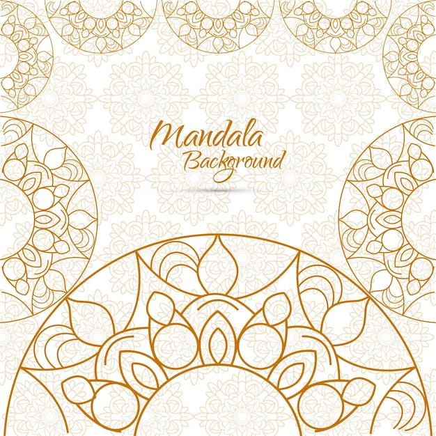 Golden mandala background
