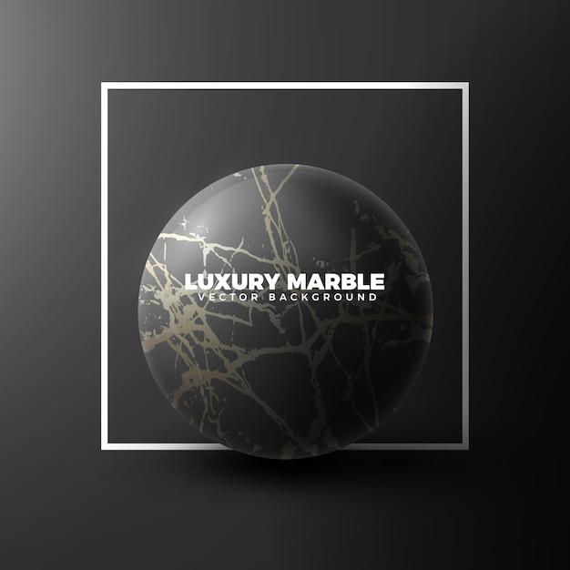 Golden marble sphere luxury background Vector | Premium Download