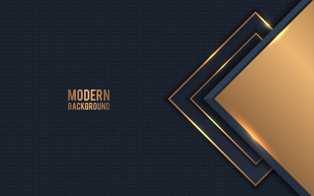 Golden metallic abstract background vector Premium Vector