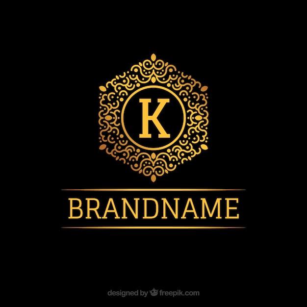 golden monogram logo vector free download