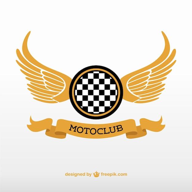 Golden motoclub logo Free Vector