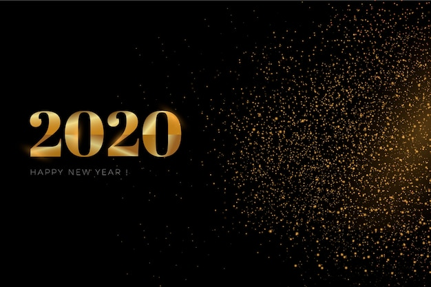 Golden new year 2020 background Vector | Free Download
