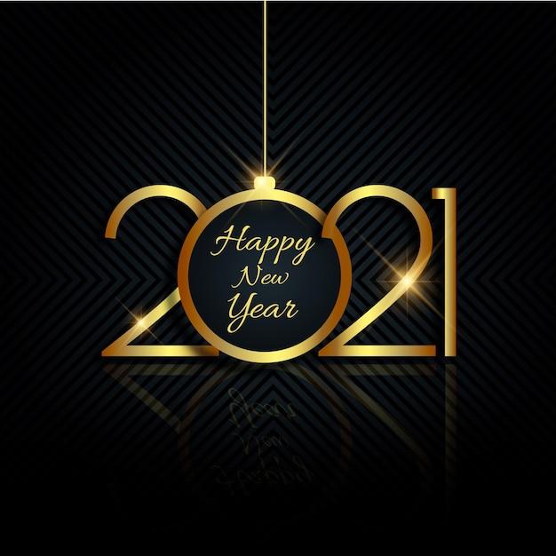 Золотой новый год 2021 фон Бесплатные векторы