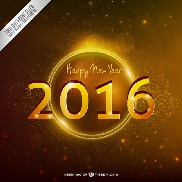 Golden new year background in abstract\ style