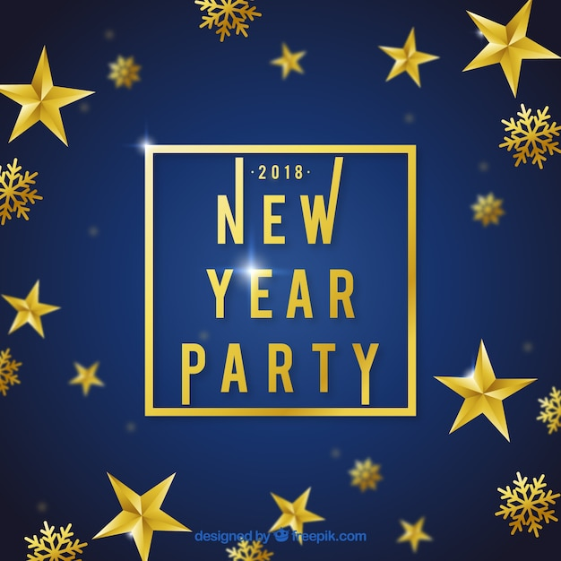 golden new year party background free vector