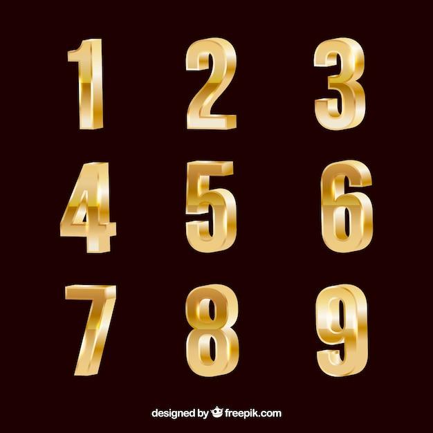 Raccolta numero d'oro Vettore gratuito