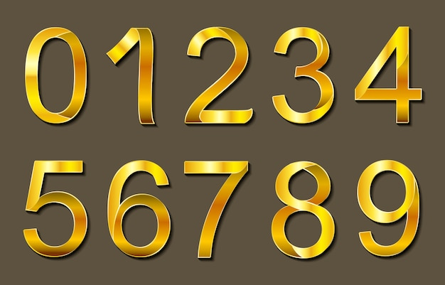 Golden numbers design Free Vector