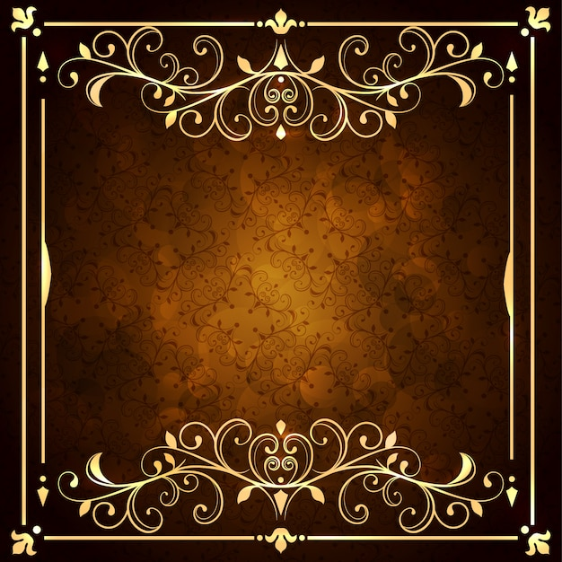 Golden ornamental background Free Vector